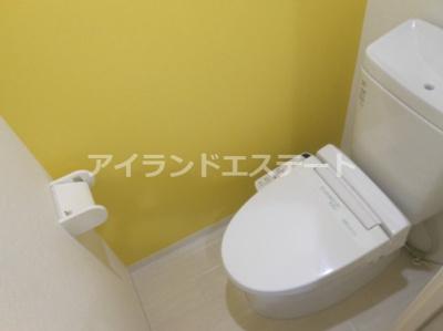 【トイレ】ハピネス池尻 礼金0 2人入居可 浴室乾燥機 オートロック