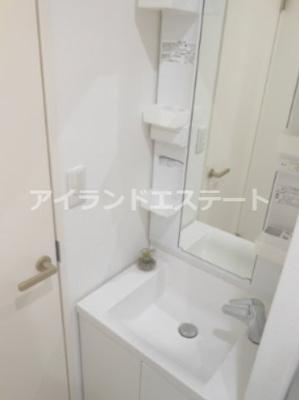 【洗面所】ハピネス池尻 礼金0 2人入居可 浴室乾燥機 オートロック