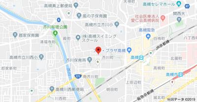【地図】山崎マンション16高槻芥川