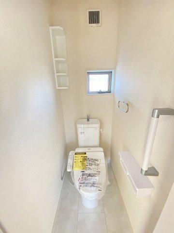 施工例。2階にもトイレです