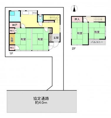 【区画図】練馬区西大泉5丁目 中古一戸建 西武池袋線 保谷