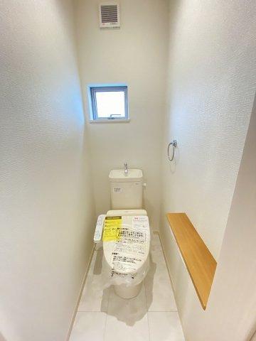 施工例。2階にもトイレです。