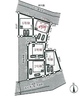 【区画図】三木市別所町高木第5 2号棟