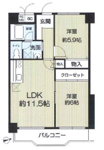 コスモハイツ六甲道(灘区烏帽子町)