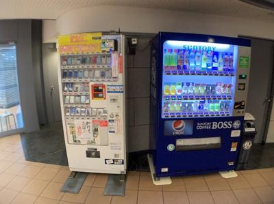 自動販売機も設置されています。