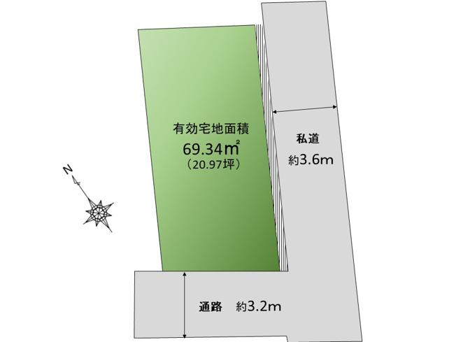 【土地図】建物108㎡の大型邸宅!世田谷区梅丘三丁目 売地