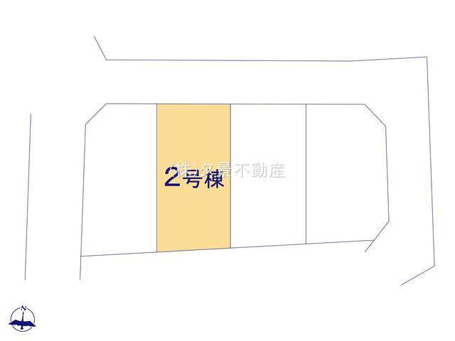 【区画図】緑区道祖土1丁目23(2号棟)新築一戸建てクレイドルガーデン