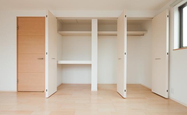 全居室収納付きですので、お部屋を広く使っていただけます♪ (当社施工例)