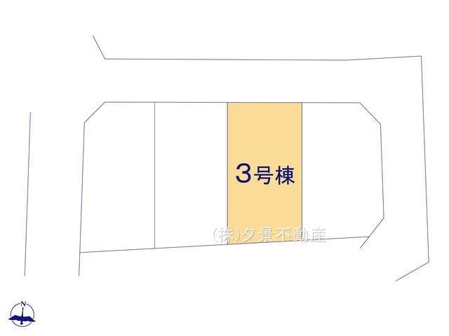 【区画図】緑区道祖土1丁目23(3号棟)新築一戸建てクレイドルガーデン