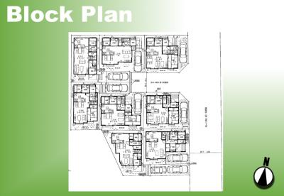 【区画図】足立区舎人3丁目条件付き売地【全8区画】