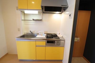 システムキッチン(2口ガスコンロ、グリル付)