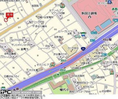 【地図】ユニコート初台