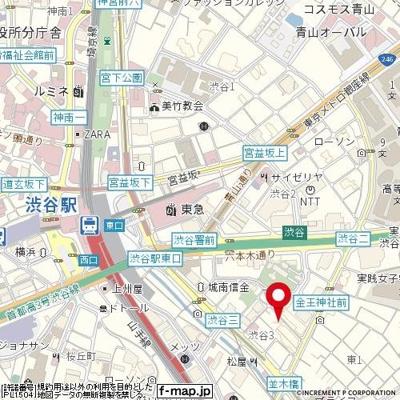 【地図】アネラ渋谷