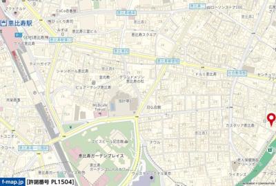 【地図】リシェ広尾