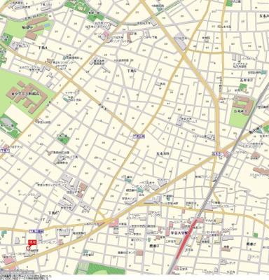 【地図】ハイシティ学芸大学第1