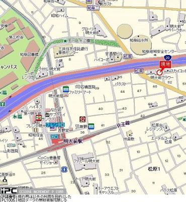 【地図】菱和パレス明大前壱番館
