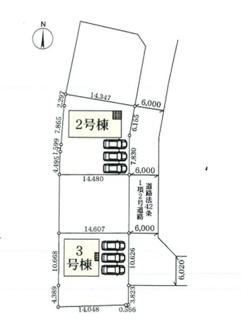 3号棟・駐車スペース並列3台可能です。