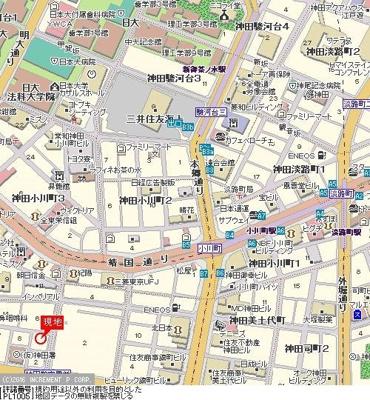 【地図】パレステュディオ御茶ノ水駿河台参番館