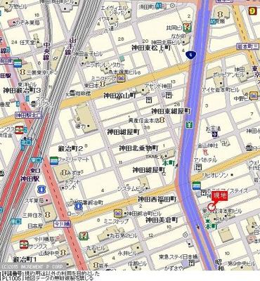 【地図】スカイコートヌーベル神田
