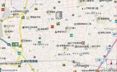【地図】葛飾区東堀切 一棟売事務所
