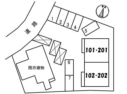 【区画図】シャーメゾン稗田