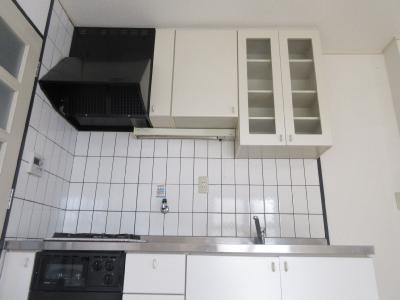 収納たっぷりあるキッチンです