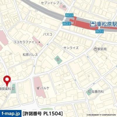 【地図】スプレンドーレ東松原