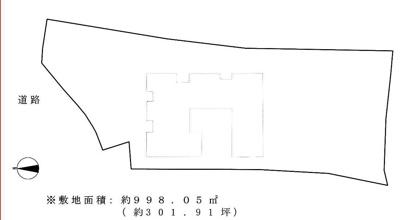 【区画図】山科区髭茶屋屋敷町 中古戸建