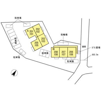【区画図】セジュール合川南B棟