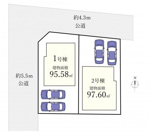 4LDK、土地面積108.13m2、建物面積95.58m2