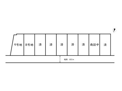 【区画図】姫路市青山西1丁目/9区画