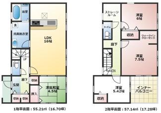 碧南市東山町新築分譲住宅1号棟間取りです。