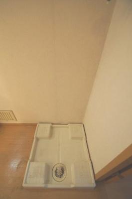 防水パン付の室内洗濯機置場あります