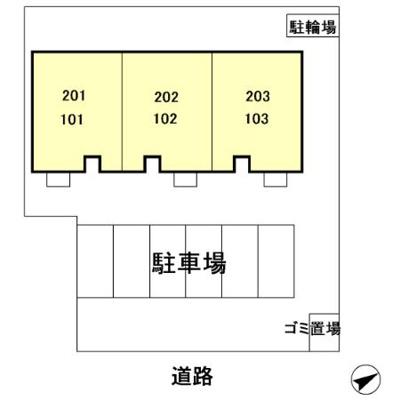 【区画図】ランコントル成田