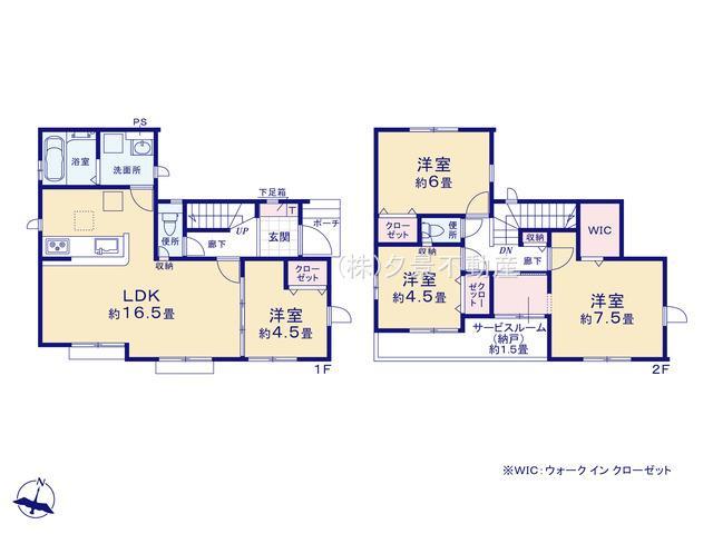 【区画図】大宮区三橋4丁目892(1号棟)新築一戸建てグラファーレ