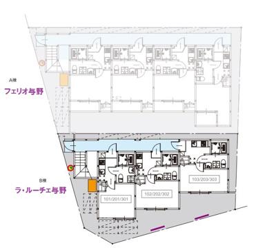 【区画図】ラ・ルーチェ与野