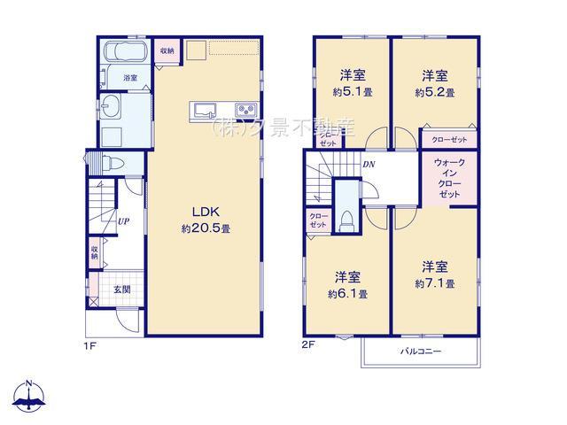 【区画図】中央区鈴谷5丁目11-25(1号棟)新築一戸建てRicca