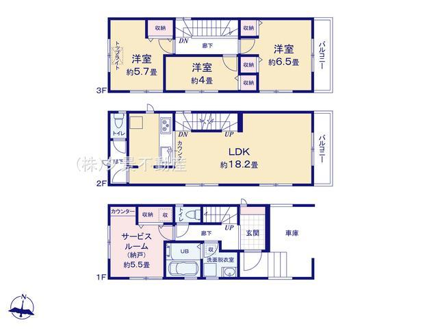 【区画図】浦和区元町1丁目12-3全2戸2号棟 新築一戸建てリーブルガーデン