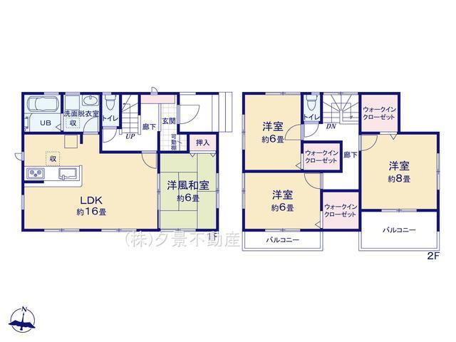 【区画図】見沼区春岡1丁目27-2全2戸1号棟 新築一戸建てリーブルガーデン