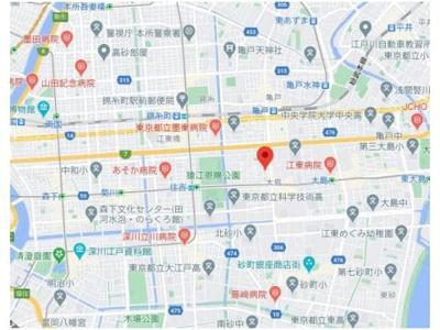 【地図】ハーモニーレジデンス東京イーストサイド