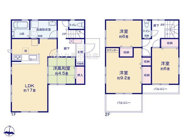 岩槻区南平野4丁目11-19全4戸3号棟 新築一戸建てリーブルガーデン