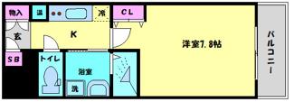 アスヴェル大阪城WESTⅠⅠ 間取り