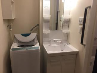 独立洗面台+洗濯機