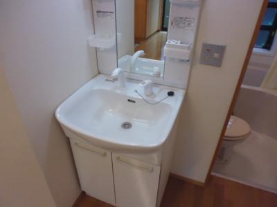 人気の独立洗面台。