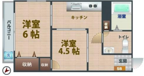 2Kのお部屋です。