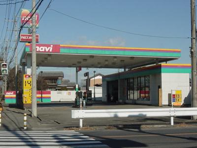 ガソリンスタンドまで640m