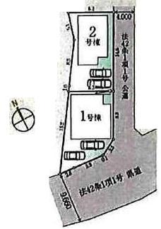 【区画図】鶴ヶ島市鶴ケ丘 新築分譲 「鶴ヶ島駅」徒歩15分 敷地34坪 【第二小学区】