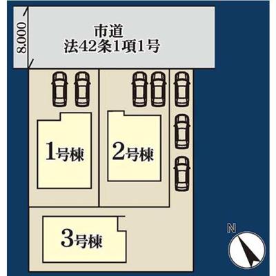 【区画図】鰭ケ崎 2号棟