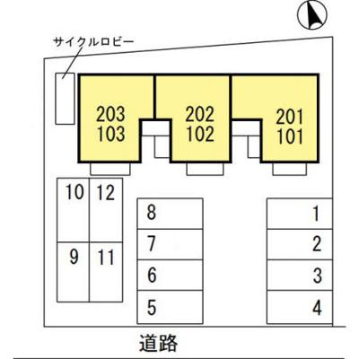 【区画図】高崎市浜尻町 井野駅 1階 1LDK