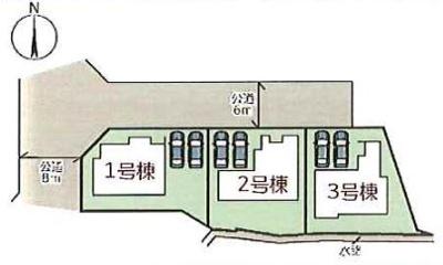 【区画図】小野市垂井町 1号棟 ~新築一戸建て~